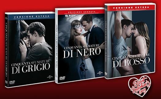Trilogia Cinquanta Sfumature dvd in edicola