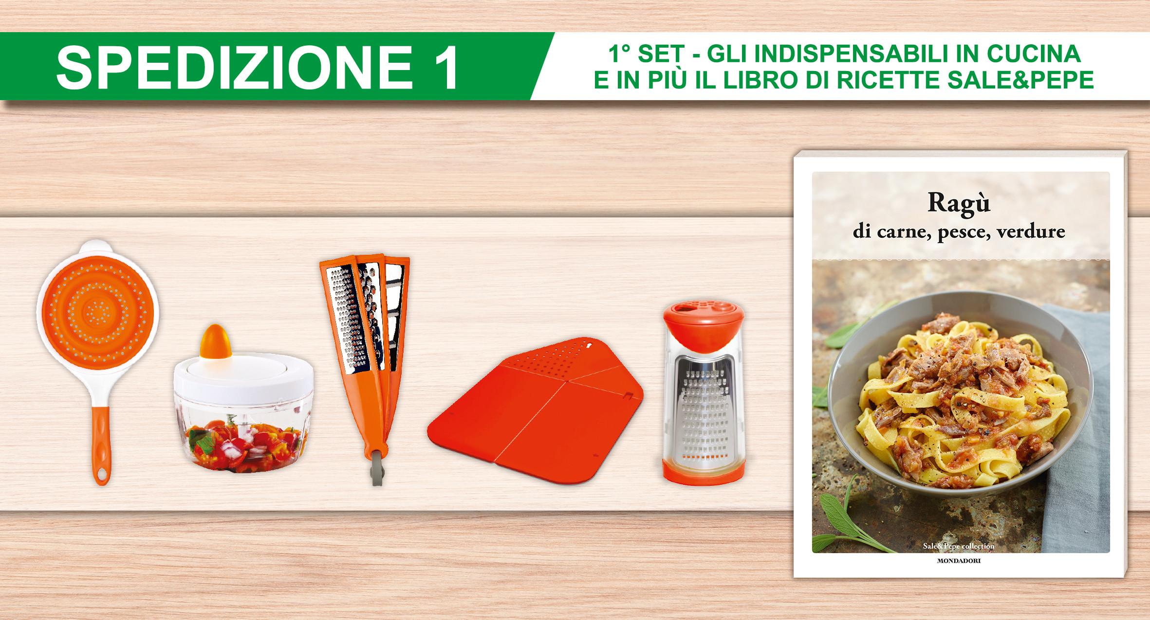 Gli indispensabili in cucina oggettistica in edicola - Utensili indispensabili in cucina ...